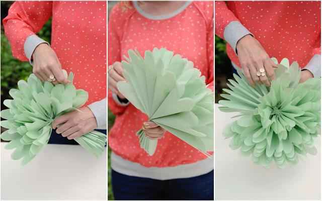 Diy tissue paper flowers project nursery group tissue paper flowers together in an arrangement and add leaves for an instant bloom of happiness mightylinksfo