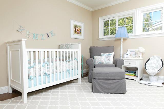 Tranquil Taupe and Aqua Nursery