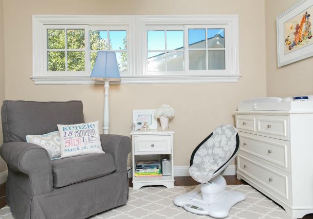 Neutral Nursery with Gray Glider
