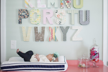 Alphabet Wall Letters Above Changing Table