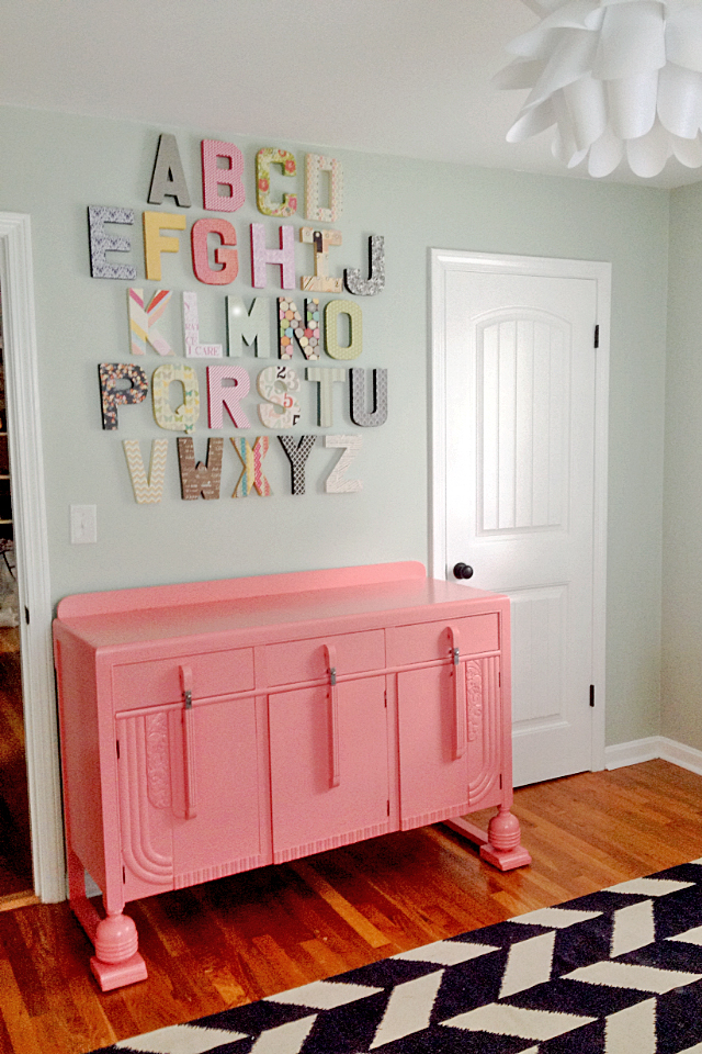 Vintage Nursery with Alphabet Wall - Project Nursery