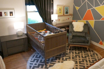 Gray, Orange and Yellow Modern Nursery