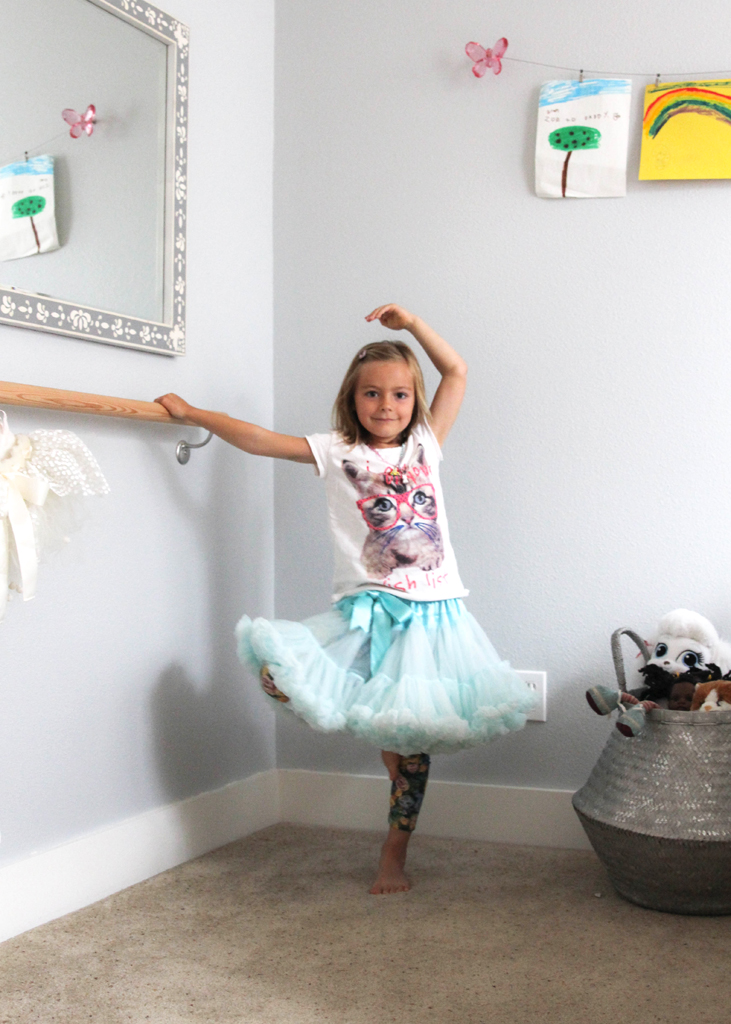 Ballet Barre in Girl's Room - Project Nursery