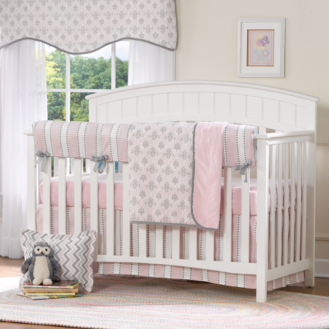 Pink Crib Bedding Set from Liz and Roo