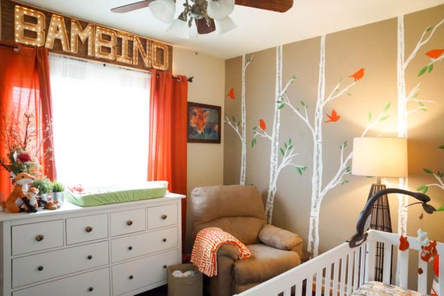 Orange and Beige Fox-Themed Nursery - Project Nursery