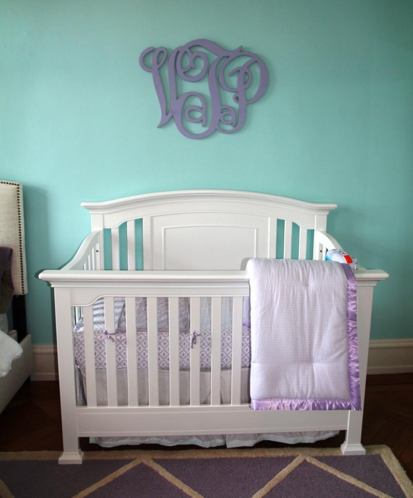 Baby Girl Nursery Tour: Lavender And Aqua Baby Girl Nursery
