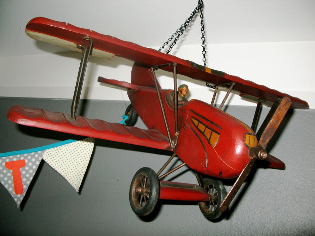 Hanging Vintage Airplane