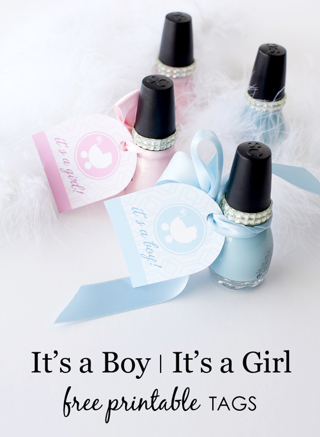 Its A Boyits A Girl Free Printable Tags Project Nursery