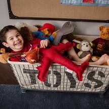 Toy Bin of Stuffed Animals