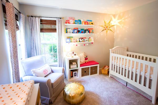 Pink and Gray Whimsical Nursery