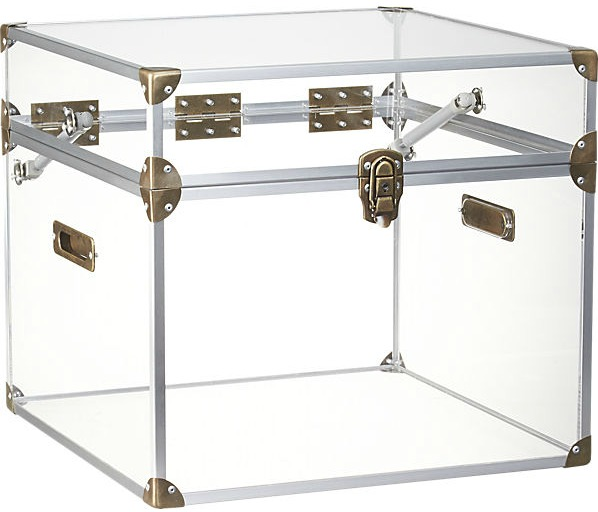 Lucite Storage Trunk from CB2