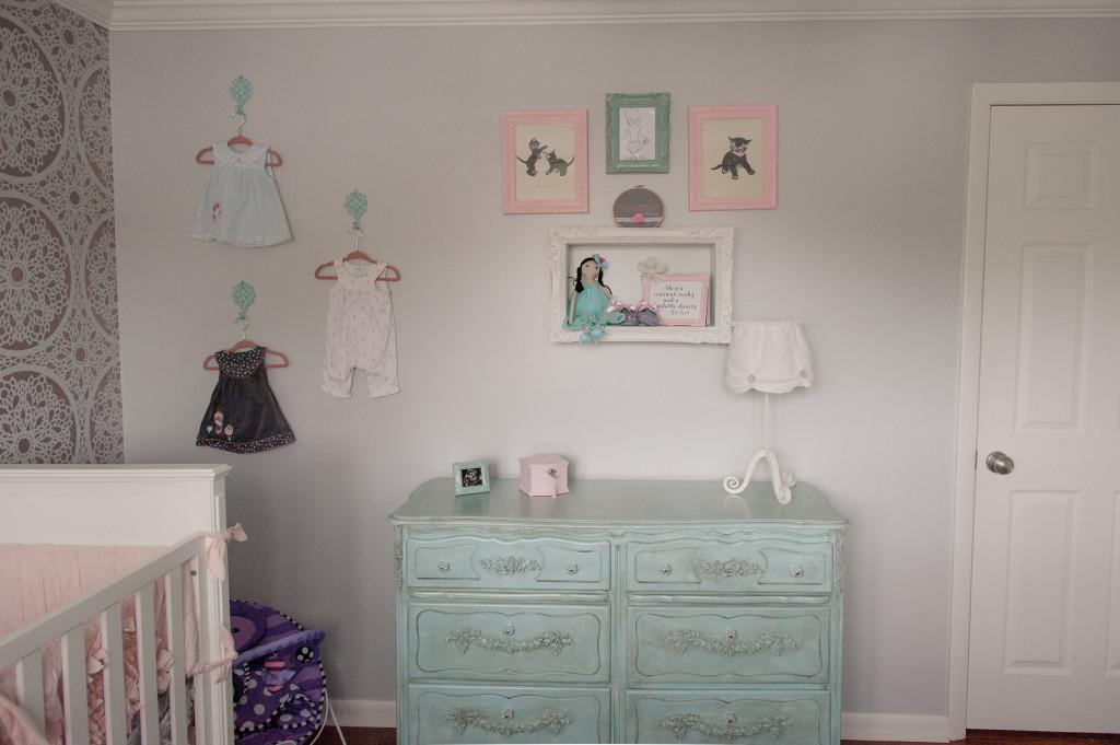 Aqua Shabby Chic Dresser