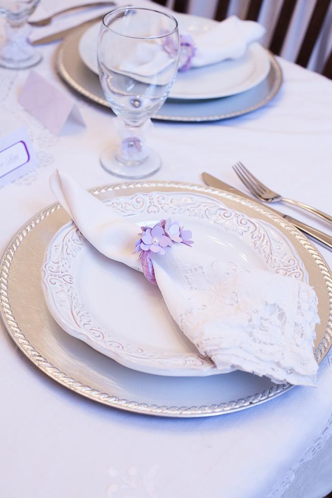 Elegant Lavender Place Setting