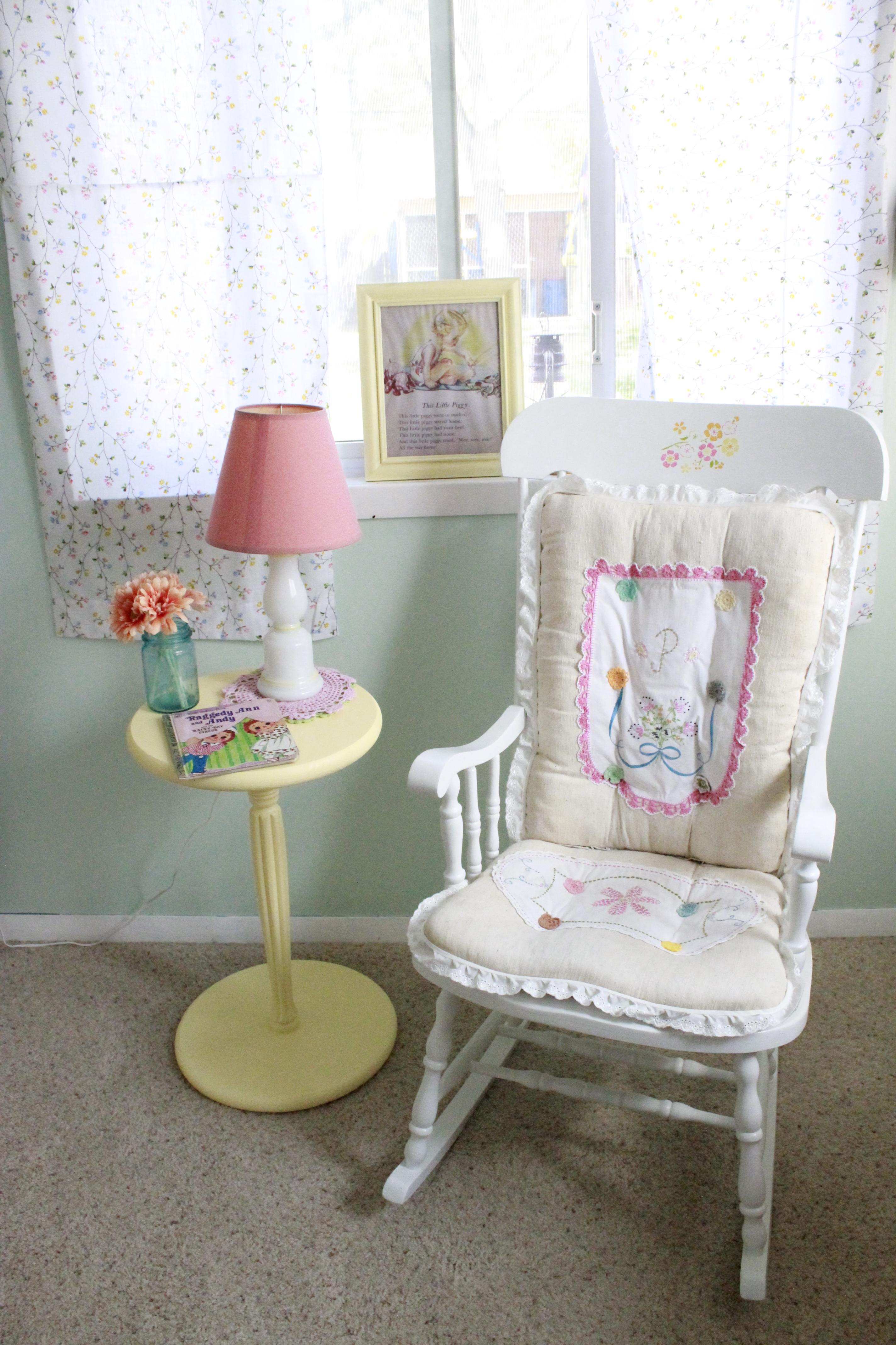 Vintage Girl Nursery Rocking Chair