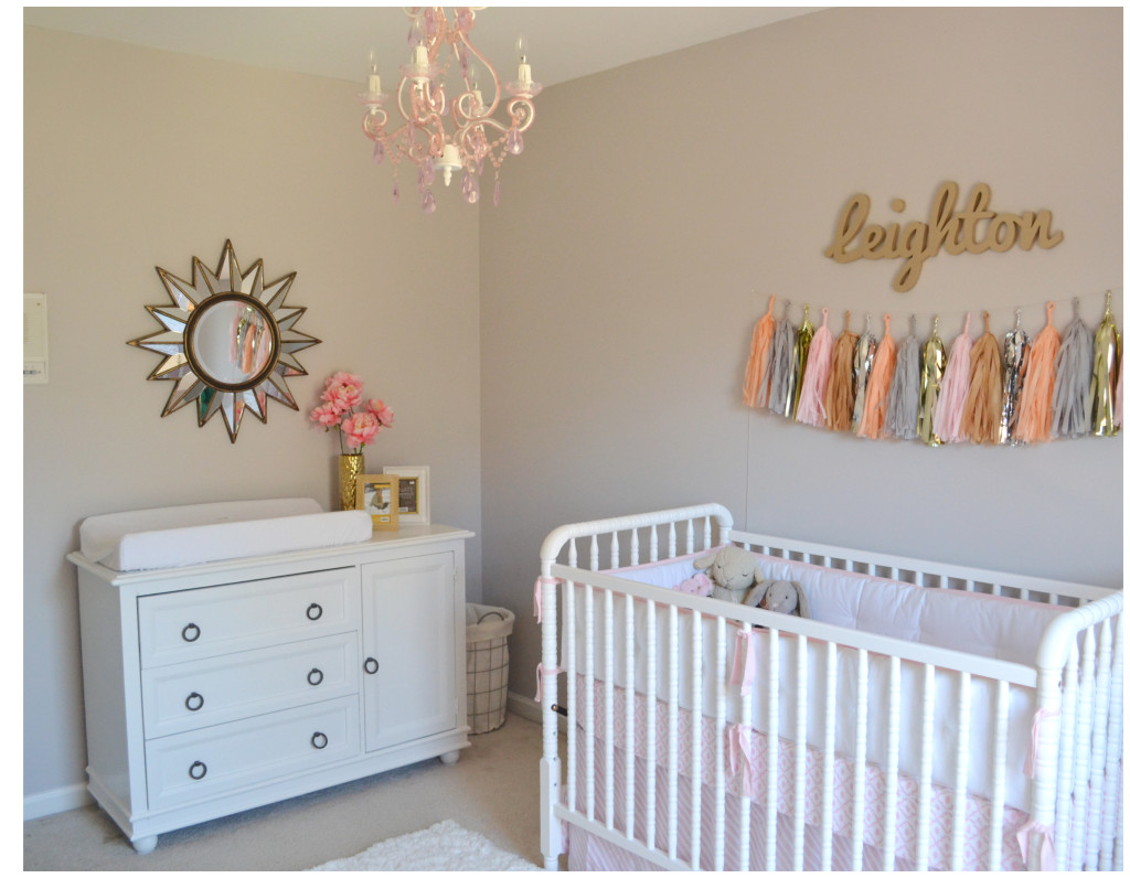 Leighton Kate S Pink And Gold Nursery Project Nursery