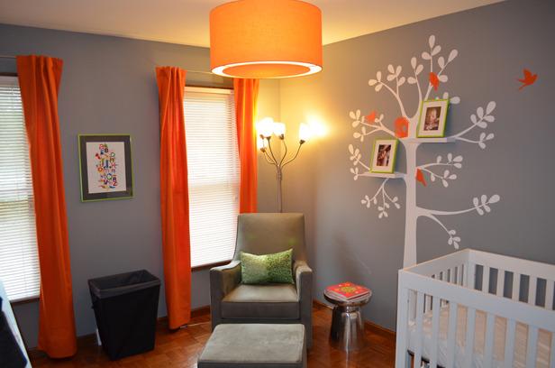 Modern Gray and Orange Nursery - Project Nursery