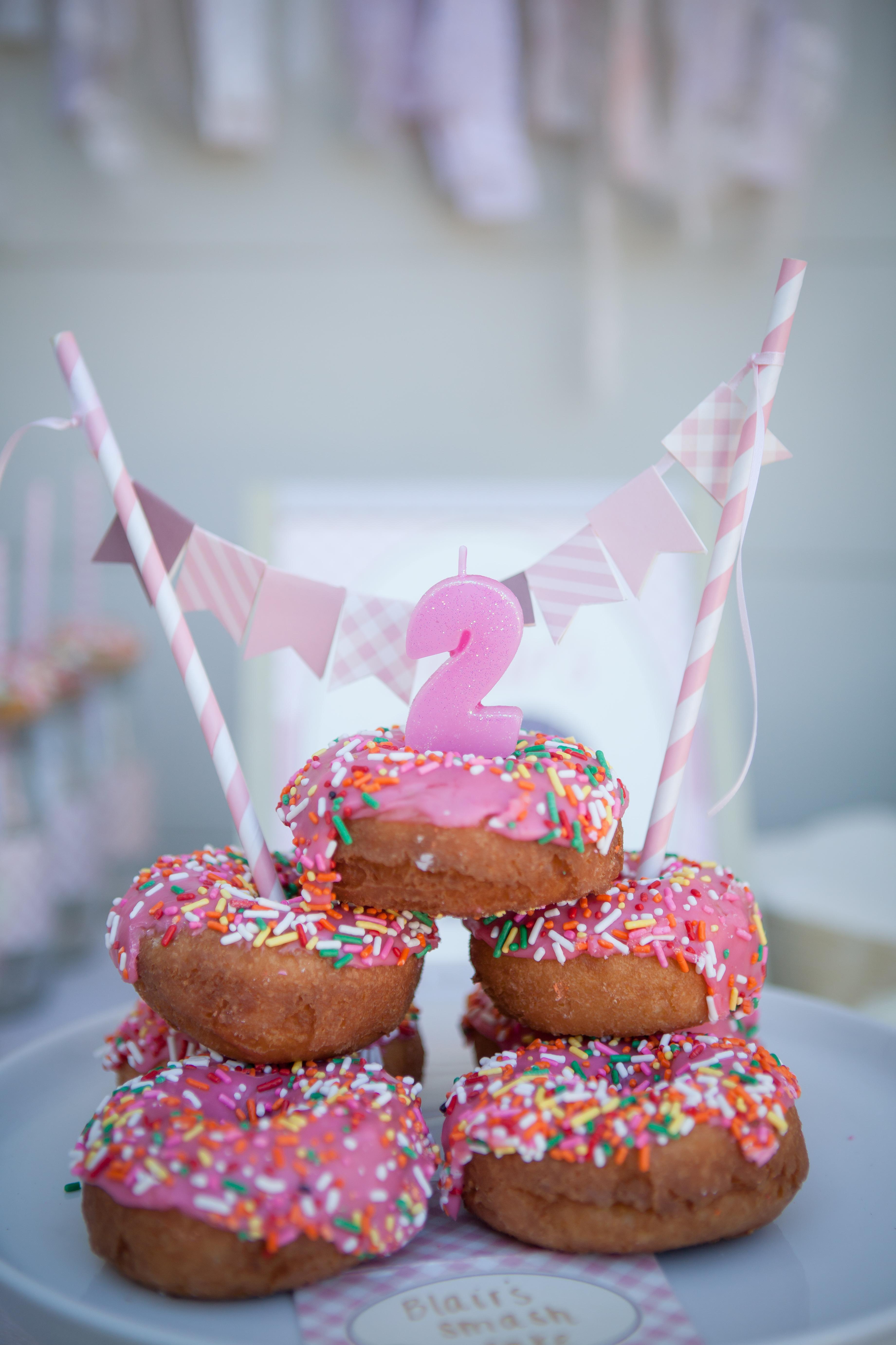 Donut 2nd Birthday Party Cake