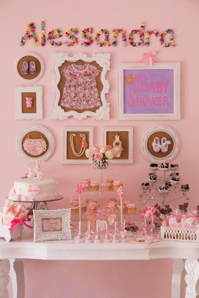 Alessandras Pink Vintage Baby Shower Project Nursery