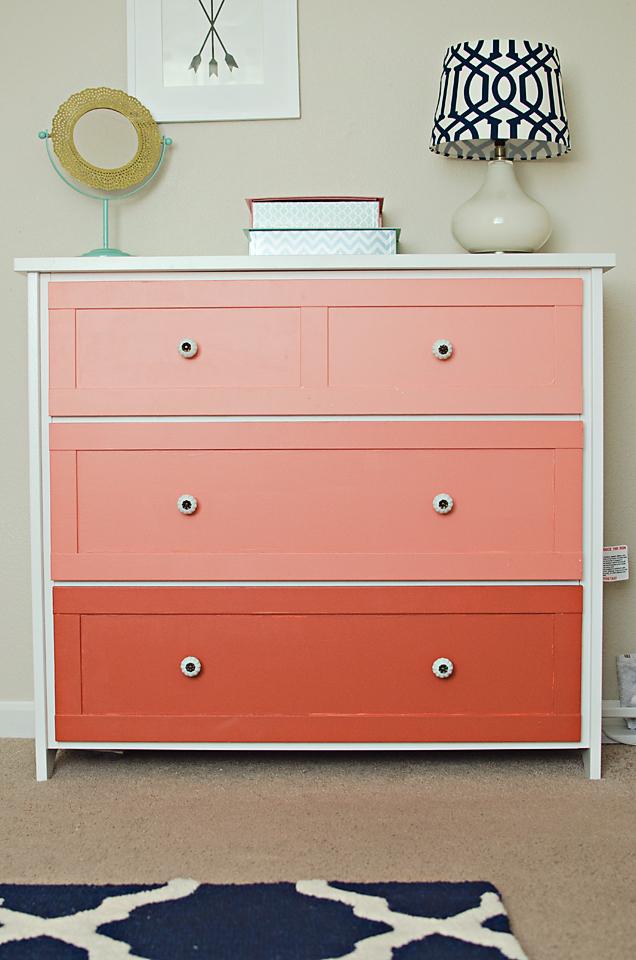Coral Ombre Dresser