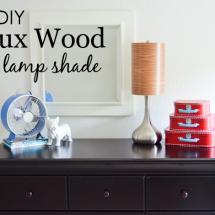 DIY Faux Wood Lamp Shade