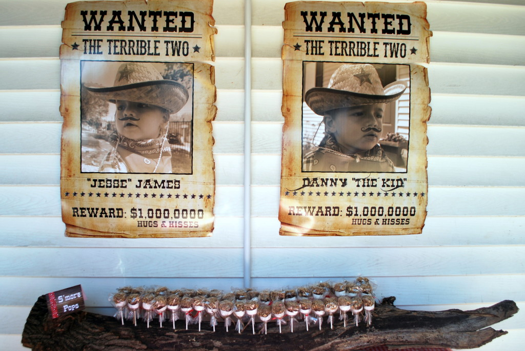 Terrible Two Wanted Posters for Western Inspired Twin Birthday