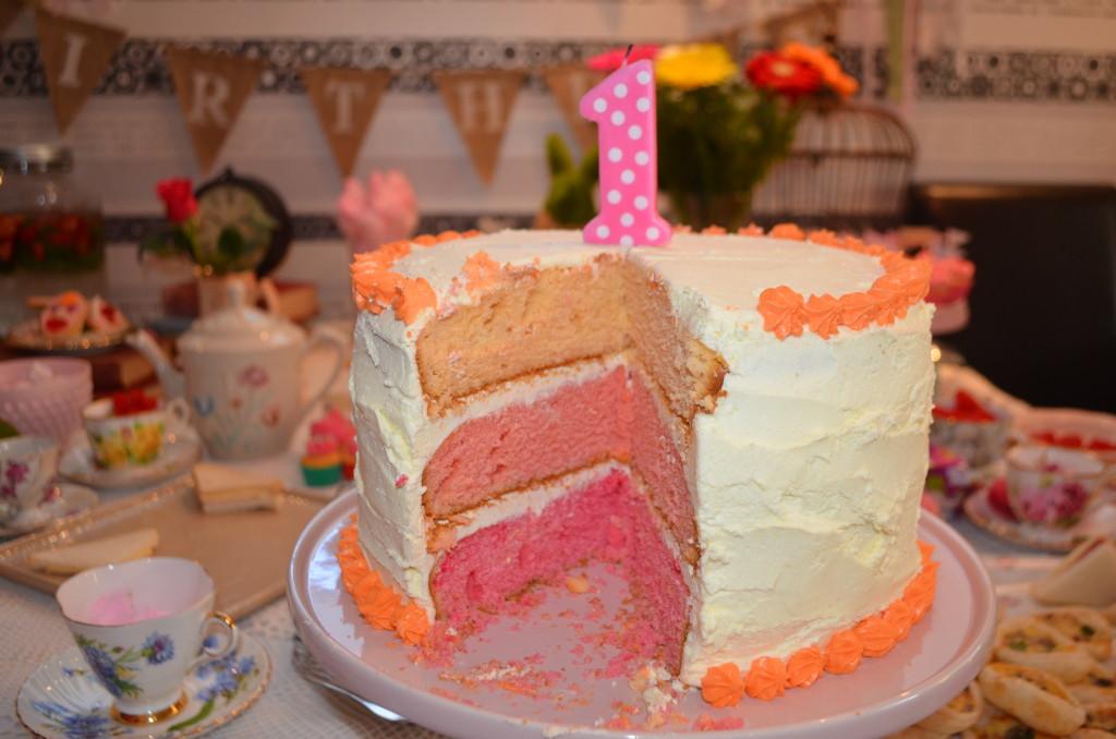 Ombre 1st Bithday Cake