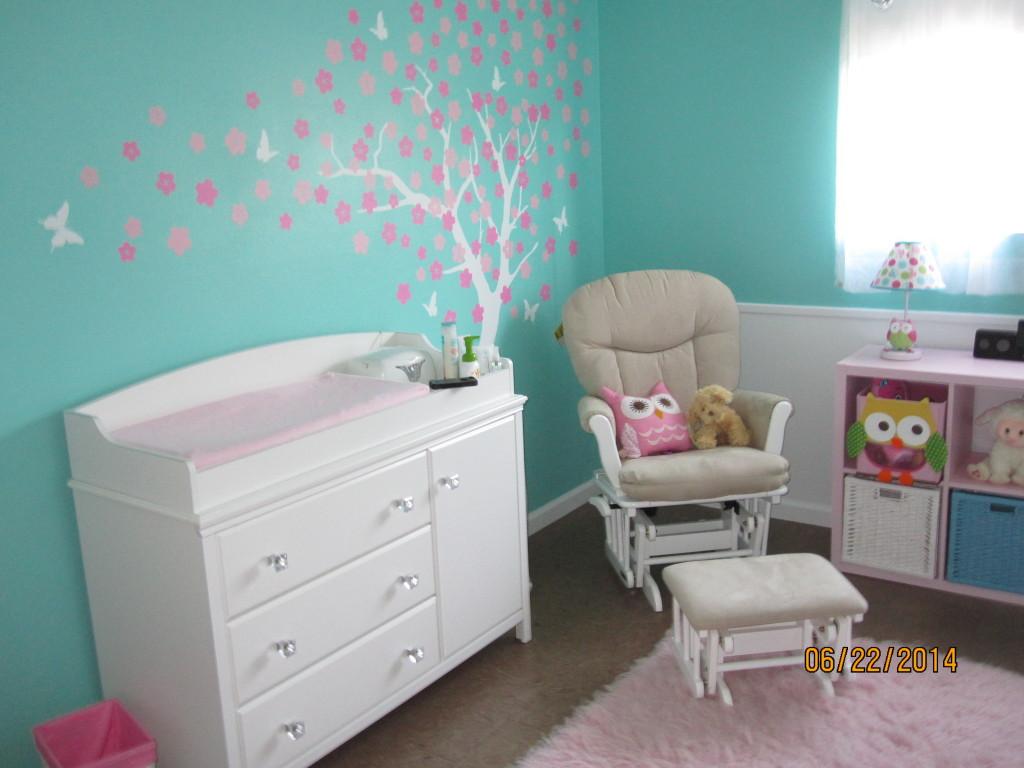 Aubrey S Tiffany Blue And Pink Owl Nursery Project Nursery