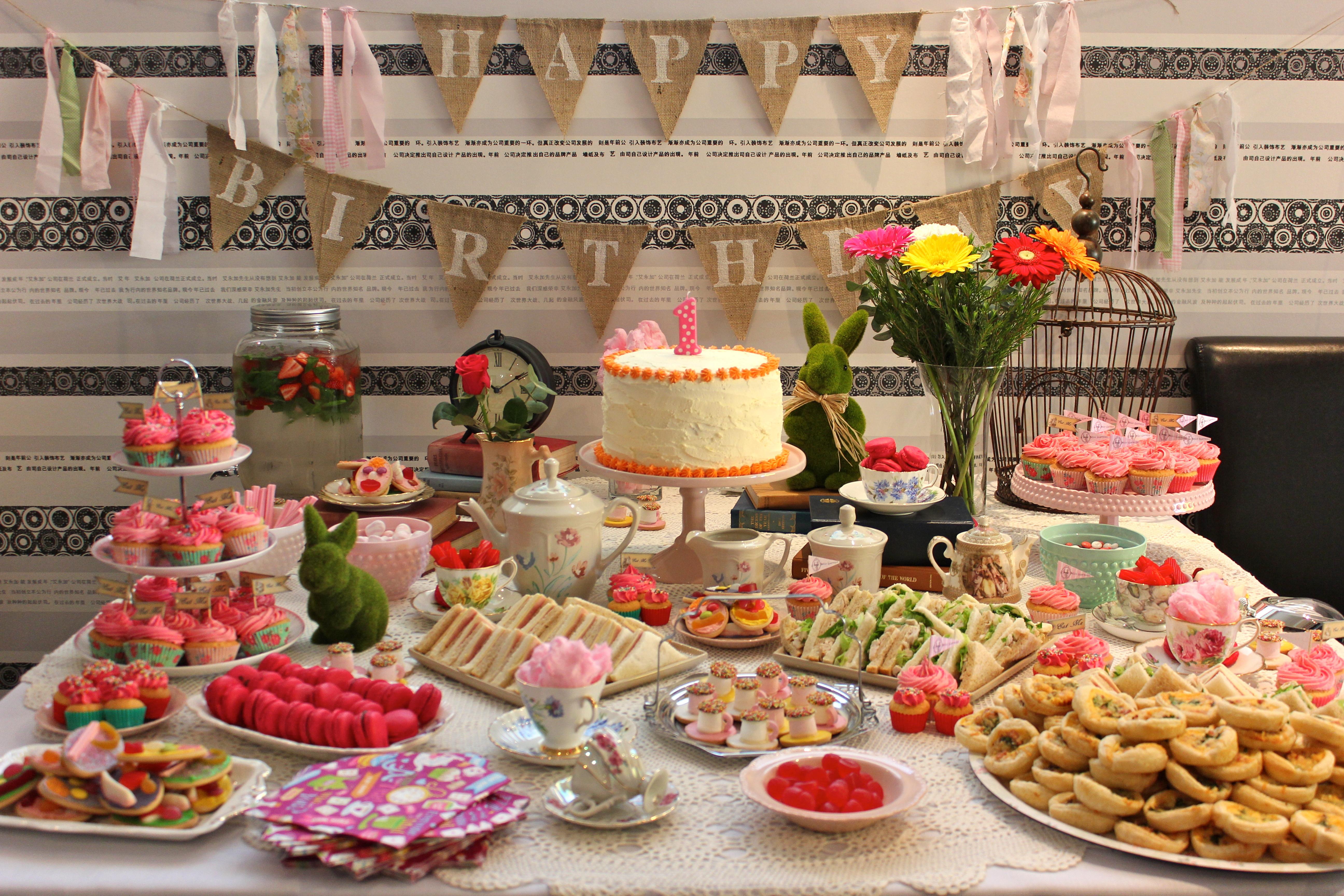 Alison in Wonderland Vintage Tea Birthday Party
