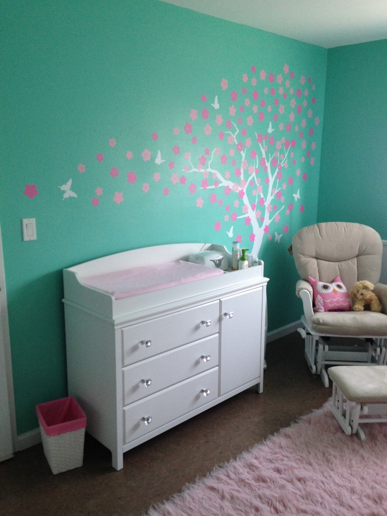 Aubrey S Tiffany Blue And Pink Owl Nursery Project Nursery