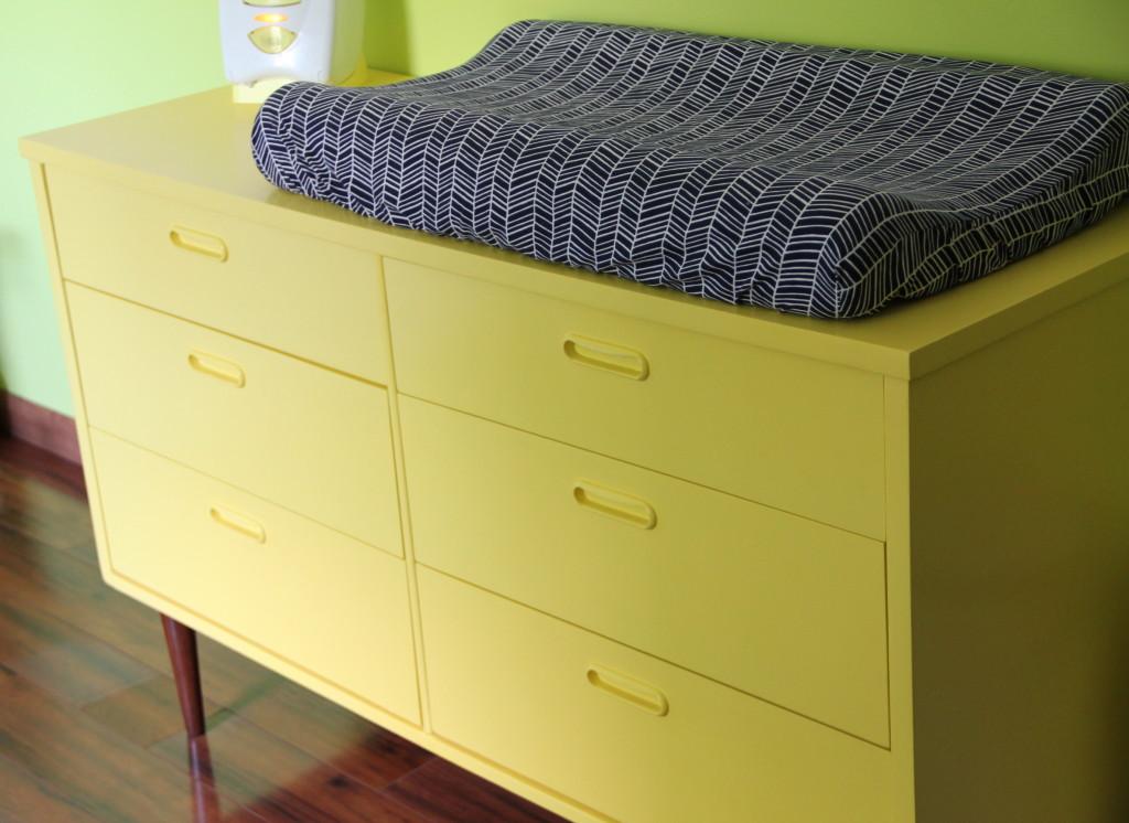 Citron Dresser in this Modern Vintage Nursery