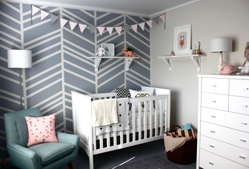diy feature wall baby nursery project nursery