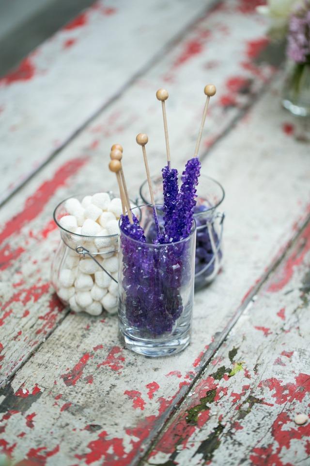 Purple Rock Candy Baby Shower Decor