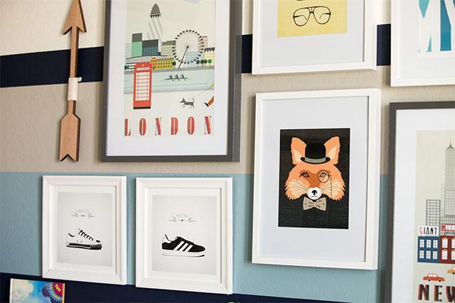 Big Boy Room with Gallery Wall