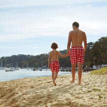 Tom & Teddy Red Swim Shorts
