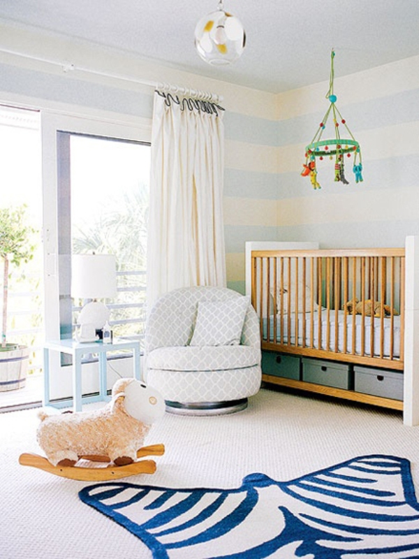 Modern Blue And White Nursery