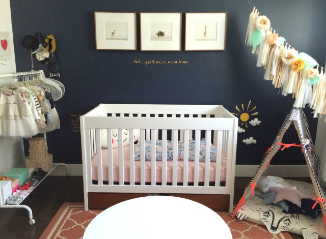 Whimsical Navy and Coral Nursery - Project Nursery