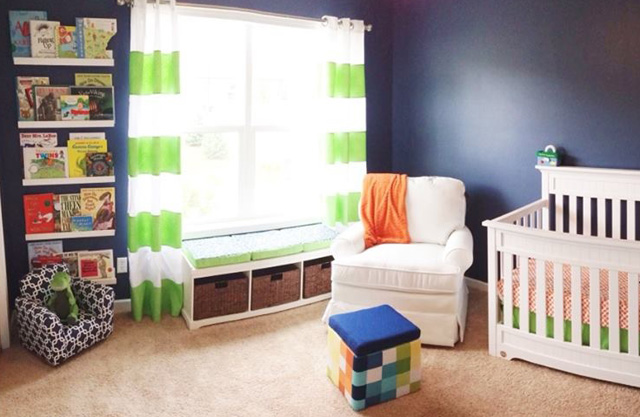 Navy Blue and Bright Green Nursery - Project Nursery
