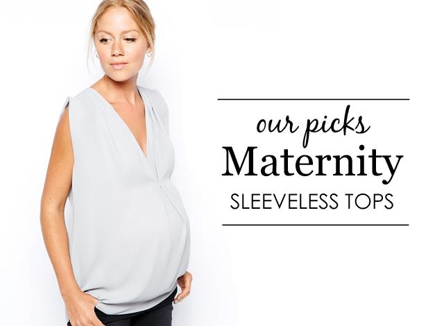 Sleeveless Maternity Tops