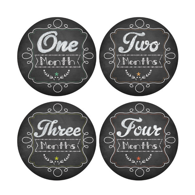 Chalkboard Monthly Onesie Stickers