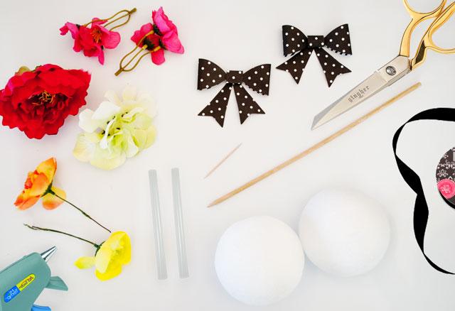 DIY Hanging Flower Ball Supplies