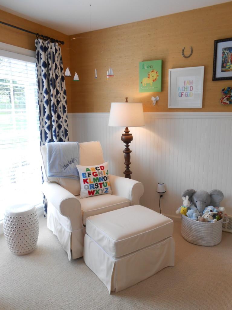 Cozy Nursery Reading/Nursing Nook