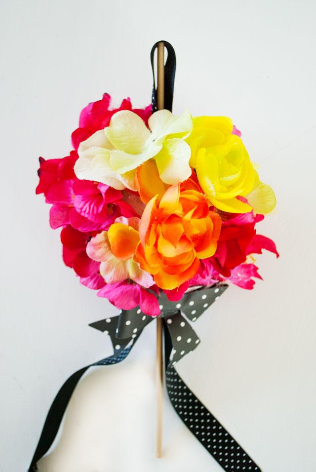DIY Hanging Flower Ball