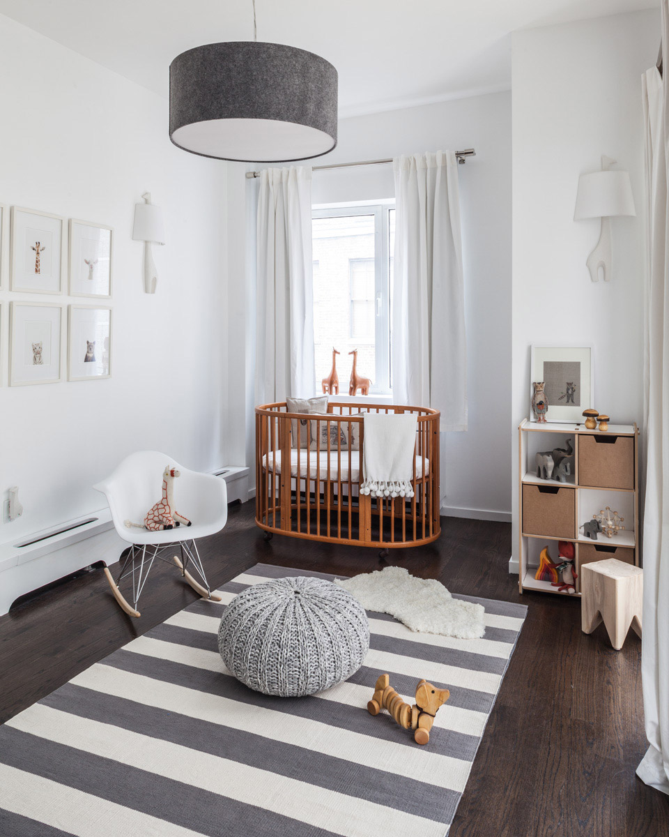 Gray and White Modern Animal Nursery