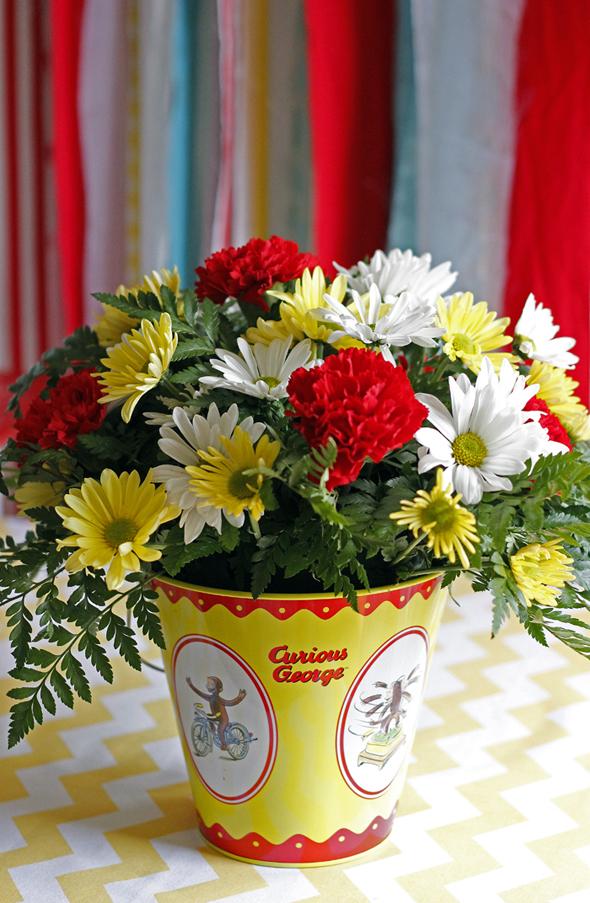 Curious George Flower Centerpieces