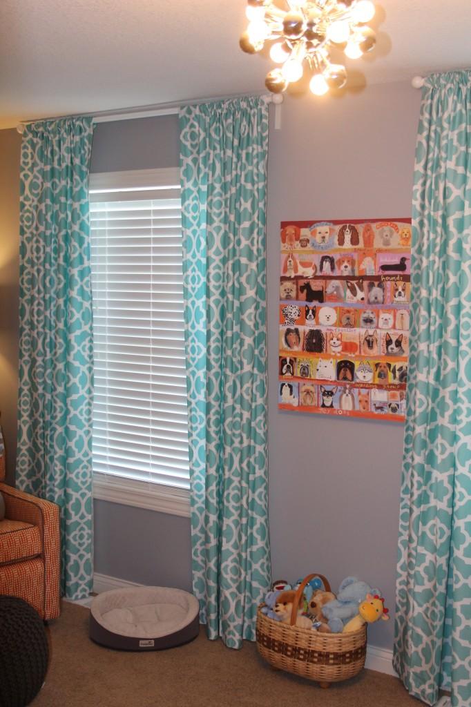 Aqua Orange And Gray Polka Dot Nursery Project Nursery
