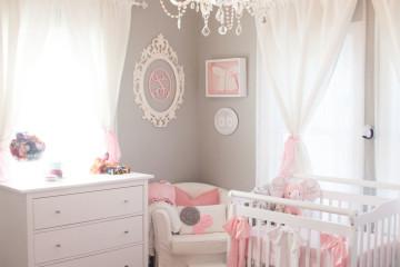 Tiny Pink and Gray Nursery
