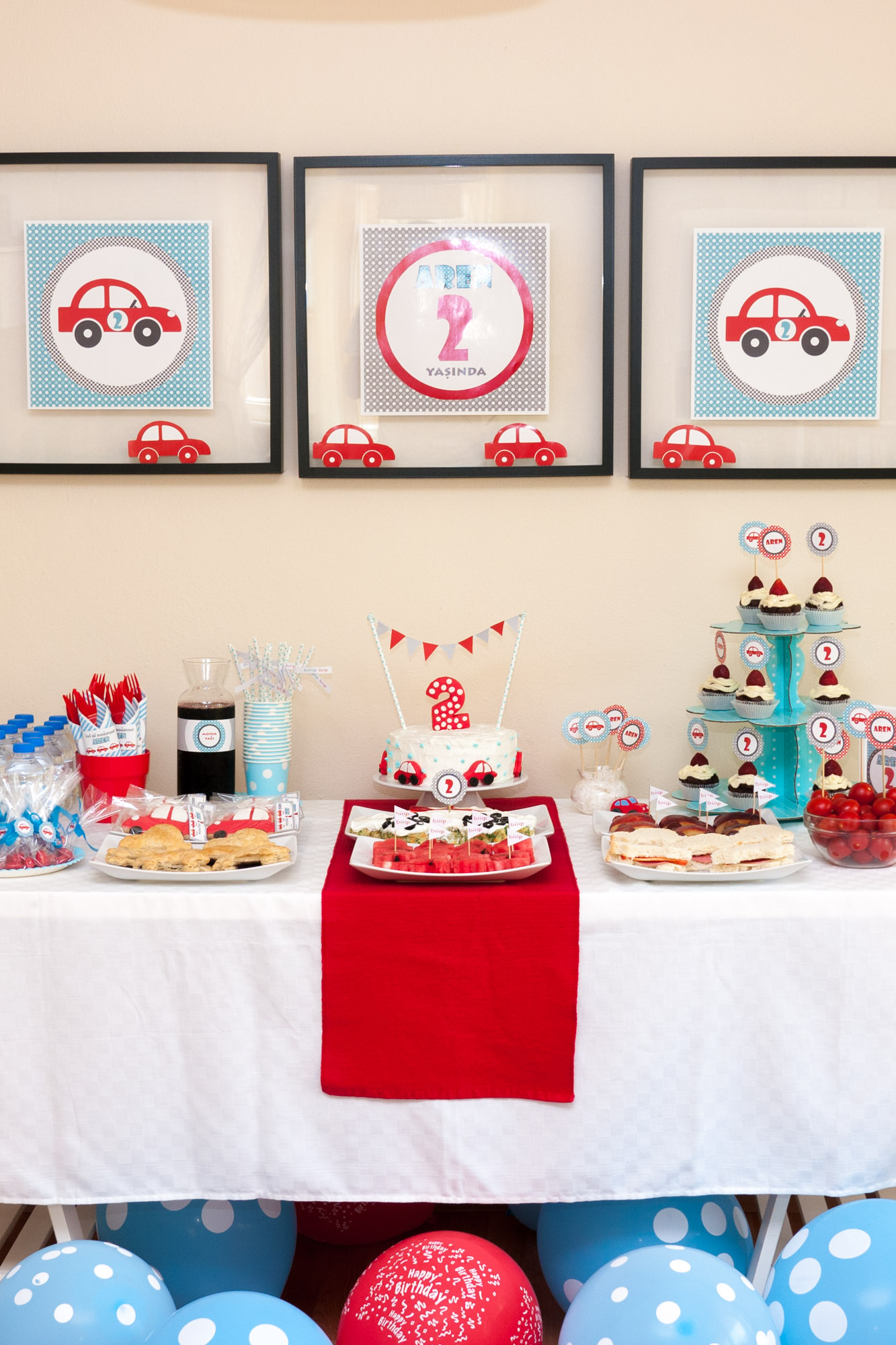 Cars Themed 2nd Birthday Party For Aren Project Nursery