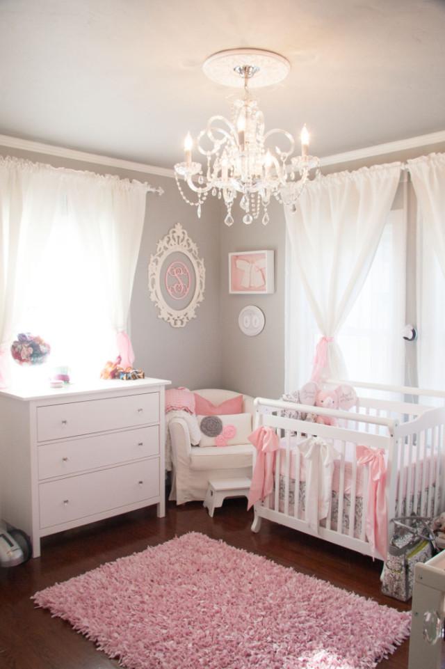 Feminine Gray and Pink Nursery - Project Nursery