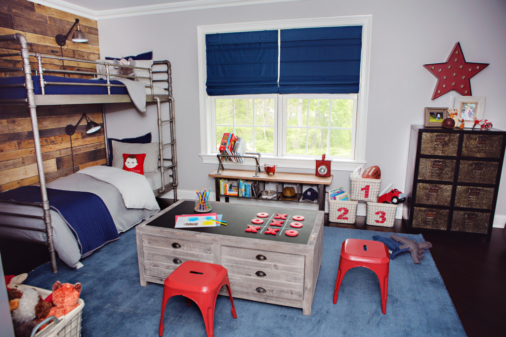 Red White and Blue Industrial Boy's Room