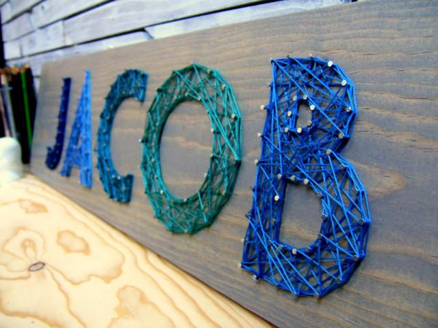 Modern String Art Letters